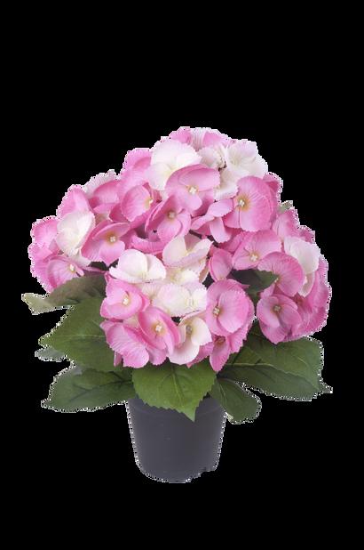Hortensia konstgjord, Höjd 35 cm, Lila