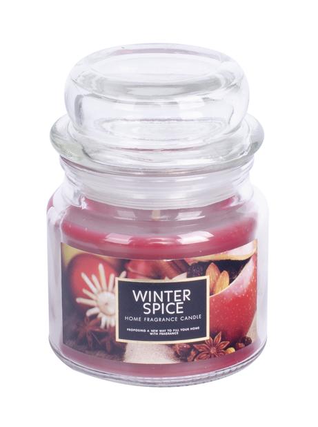 Doftljus Kanel & Apelsin , Höjd 8.6 cm, Röd