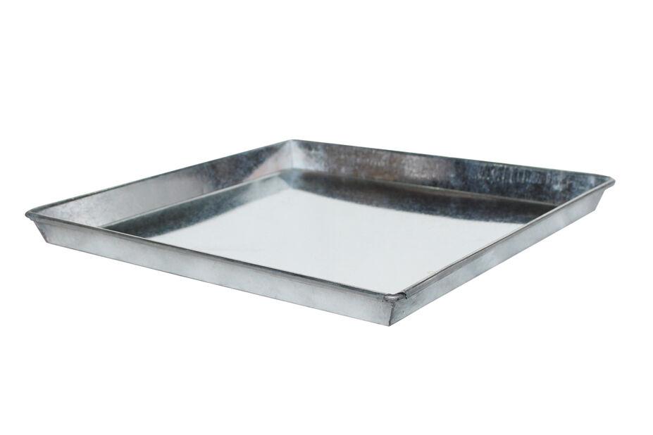 Fat Zink 26 cm fyrkantig grå