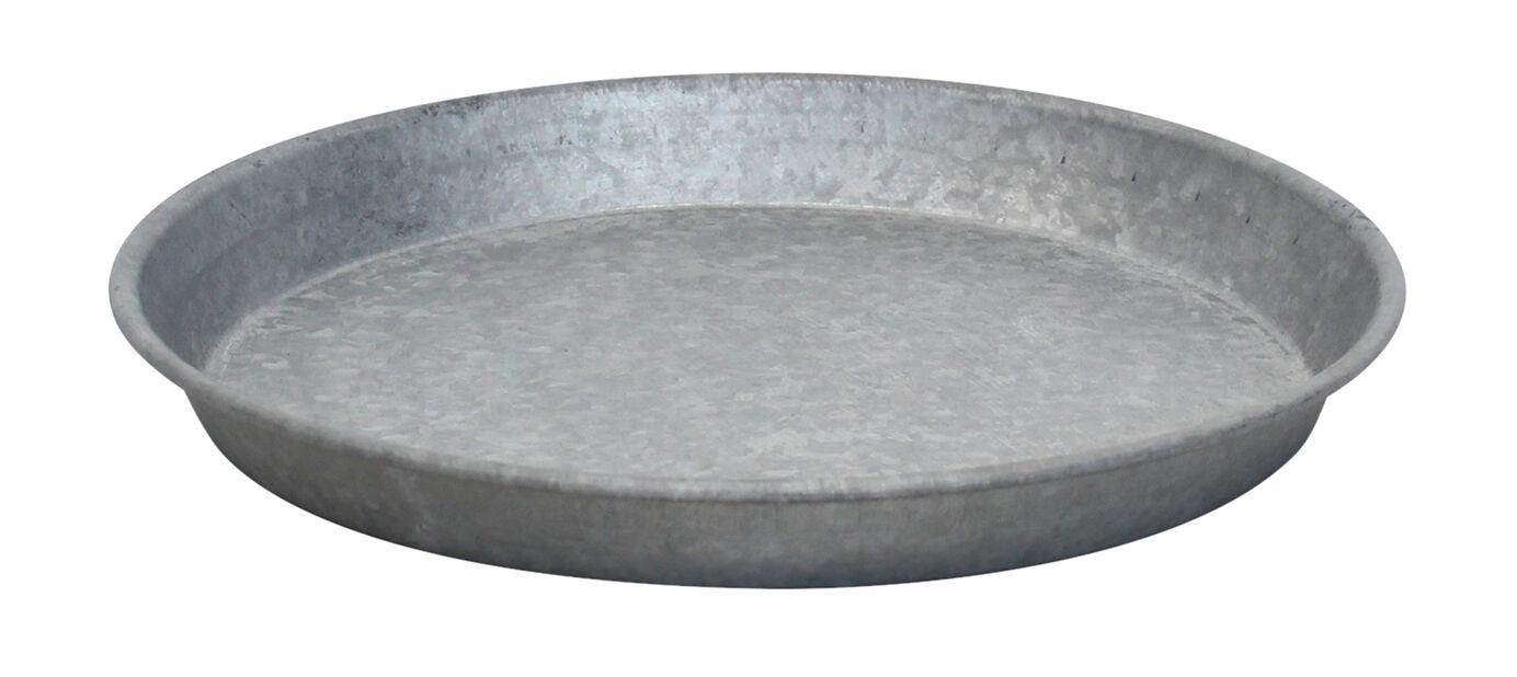 Fat zink, Ø28 cm, Grå