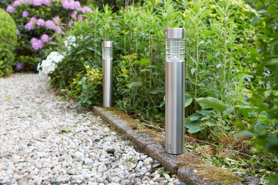 Solcellsarmatur Tacoma, Höjd 38 cm, Silver