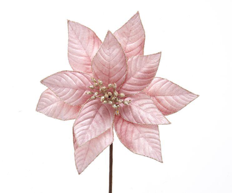 Julgranspynt Julstjärna, Höjd 15 cm, Rosa