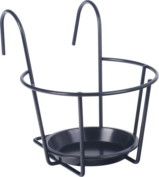 Balkonglåda hållare 24 cm svart