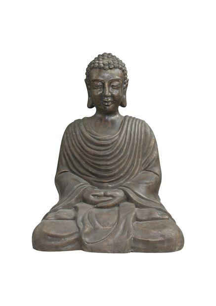 Dekoration Buddha, Höjd 48 cm, Svart