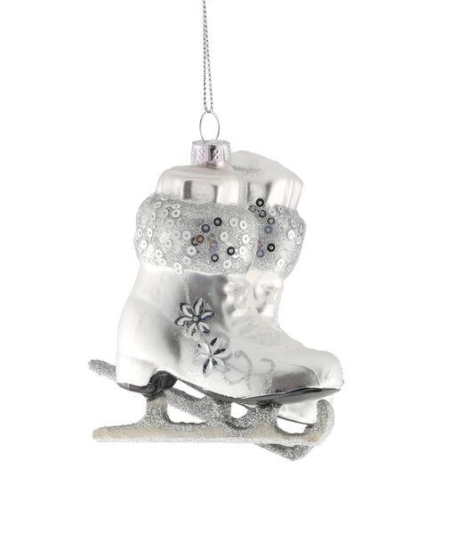 Julgranspynt skridskor, Höjd 10 cm, Vit