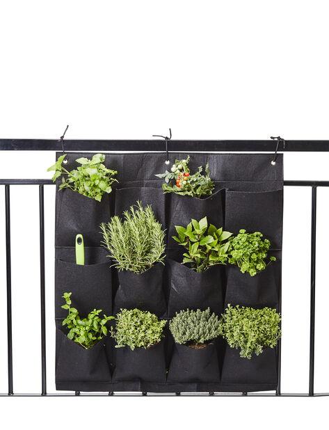 Marwin odlingsficka vägg 85x79cm svart
