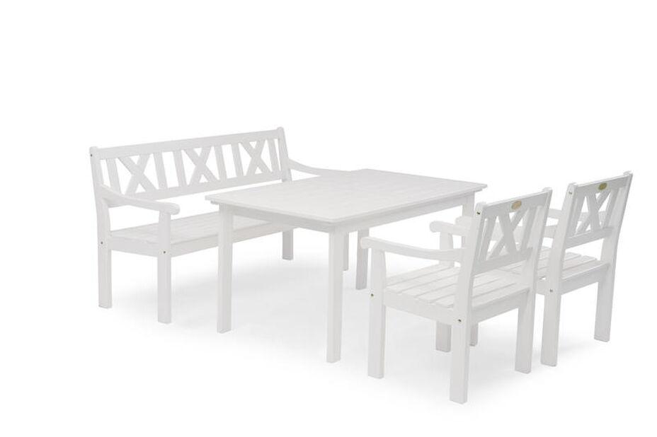 Matgrupp Läckö, 4 sittplatser, Vit