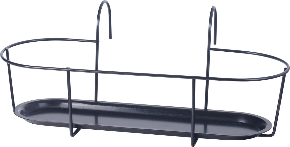 Balkonglåda hållare 50 cm svart