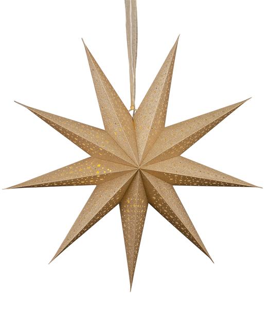 Julstjärna Gloria  med LED-belysning, Längd 60 cm, Guld