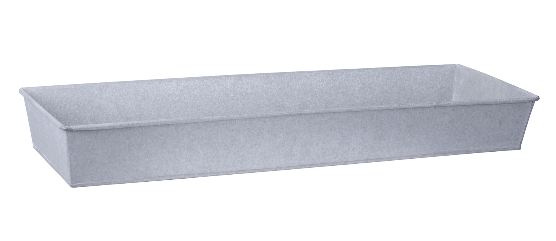 Zinklåda L, Längd 72.5 cm, Silver