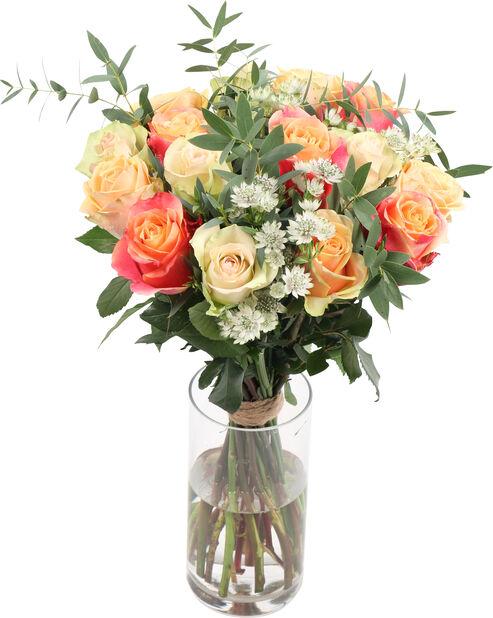 Bukett Pretty roses, Höjd 50 cm, Flerfärgad
