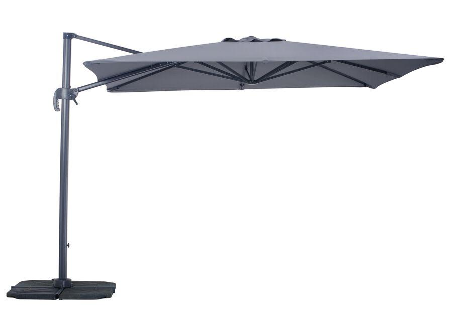 Parasoll Roma, Längd 300 cm, Grå