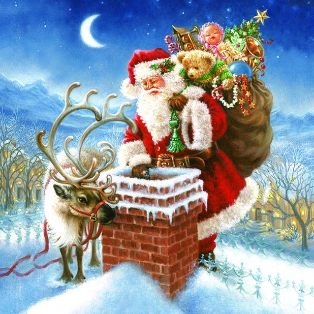 Julservettter Jultomte , Ø33 cm, Flerfärgad