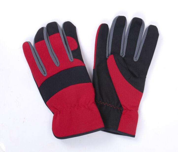 Trädgårdshandske syntetisk läder medium röd