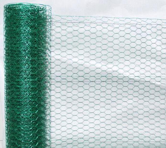 Metallnät hexagon, Längd 5 m, Grön