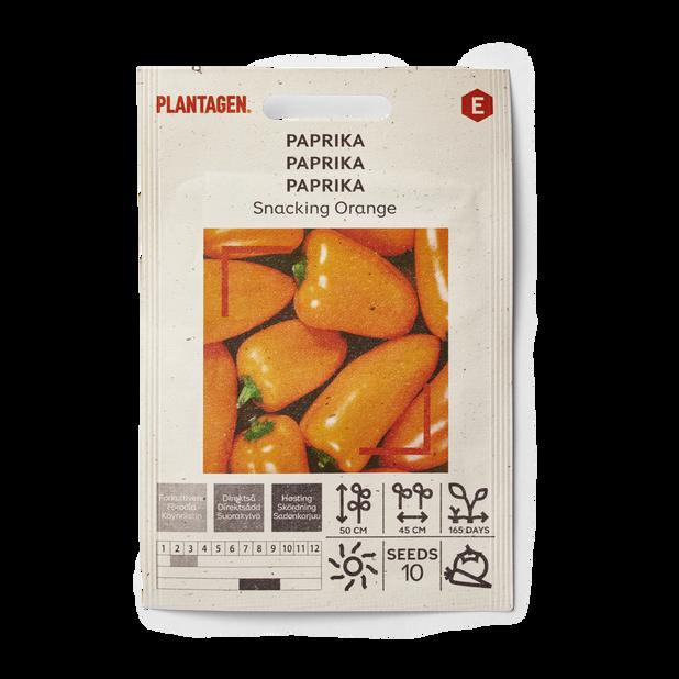 Paprika 'Snacking Orange', Flerfärgad