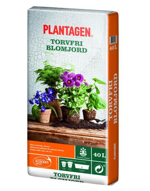 Blomjord torvfri, 40 L, Flerfärgad