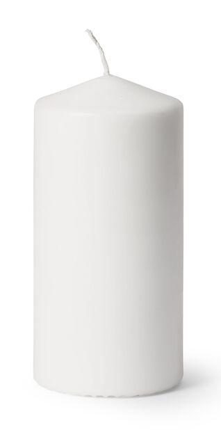Blockljus, Höjd 14 cm, Vit