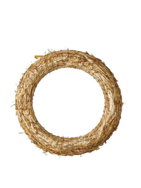 Halmkrans , Höjd 25 cm, Trä