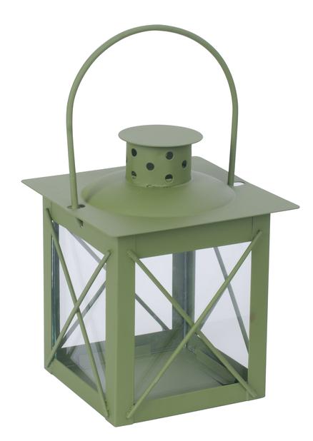 Lykta Pia, Höjd 13 cm, Grön