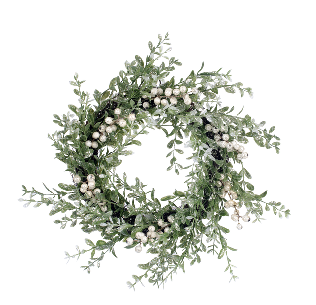 Krans Frost, Ø45 cm, Grön