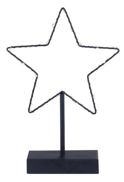 Bordstjärna 20 LED-lampor, Höjd 30 cm, Svart