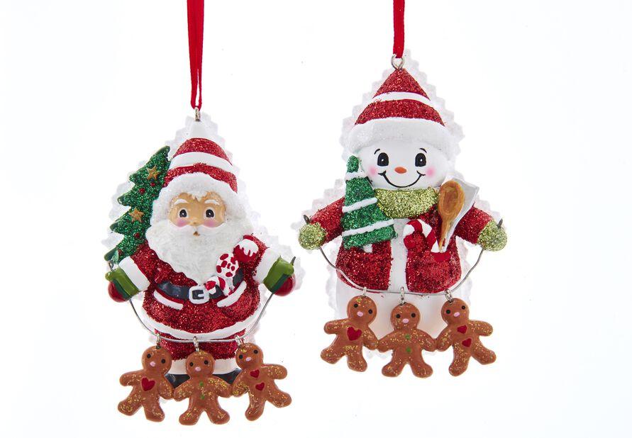 Julgranspynt Julfigur med pepparkakor, Höjd 10 cm, Flerfärgad