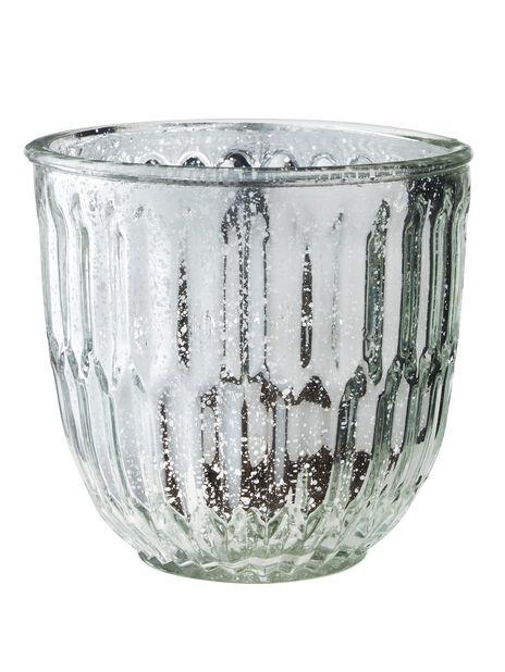 Luna glaskruka Ø15 cm, silver