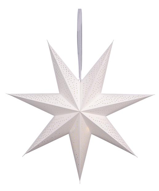 Adventsstjärna Ella, Längd 90 cm, Vit