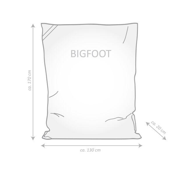 Sittsäck Big foot, Längd 170 cm, Svart