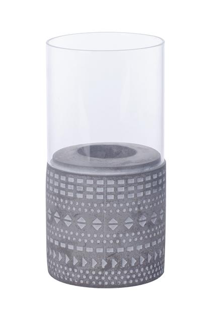 Värmeljushållare Hedda, Höjd 18 cm, Grå