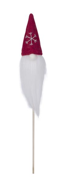 Dekorationspinne med tomte Bo, Höjd 38 cm, Transparent
