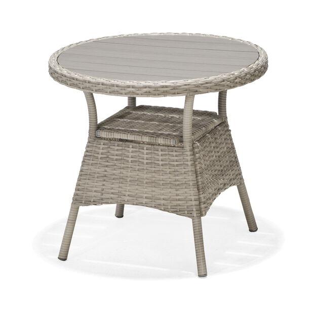 Cafébord Aruba, Ø70 cm, Grå
