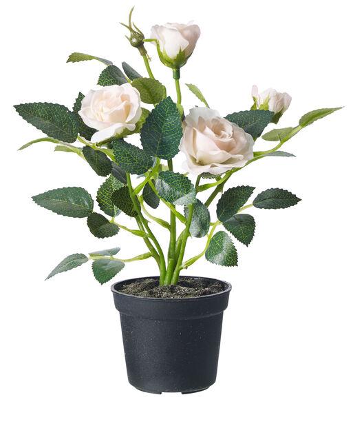 Miniros konstgjord, Höjd 20 cm, Rosa