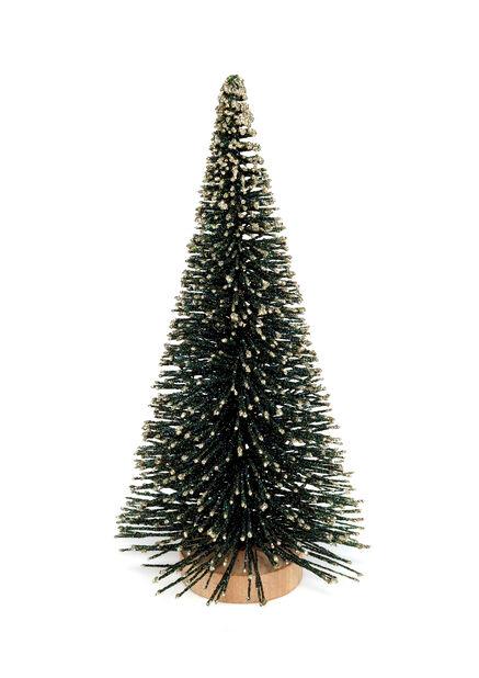 Julgran med glitter, Höjd 23 cm, Grön