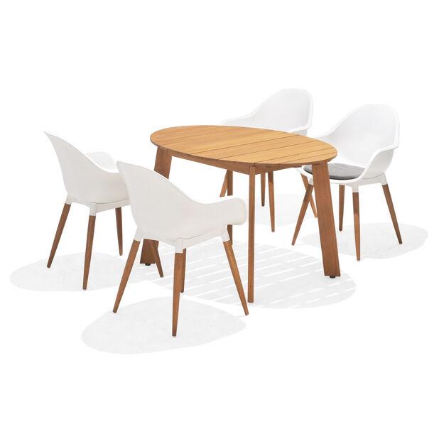 Matgrupp Viborg, 4 sittplatser, Vit