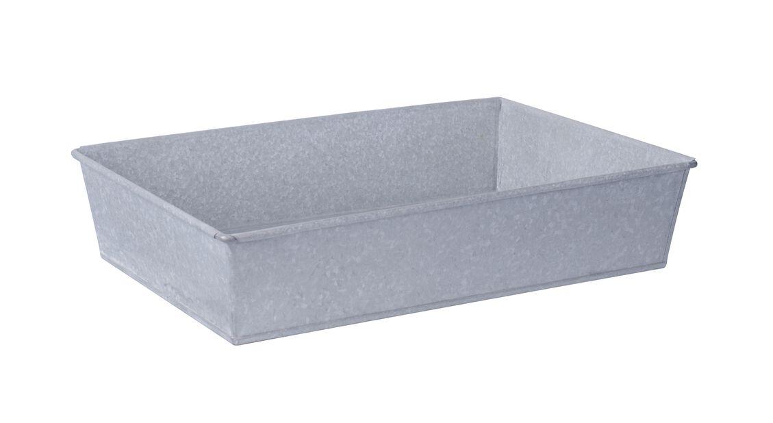 Odlingstråg i zink S, Längd 40 cm, Silver