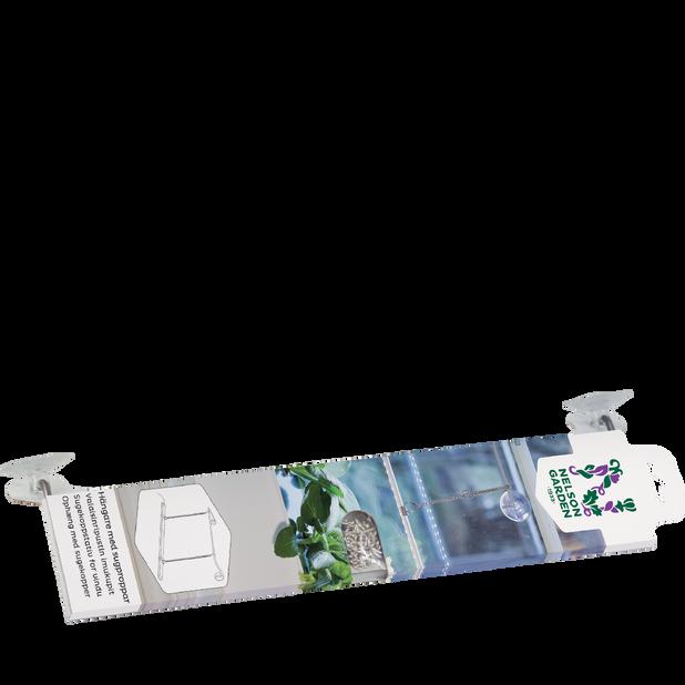 Hängare med sugproppar, Längd 40 cm, Vit