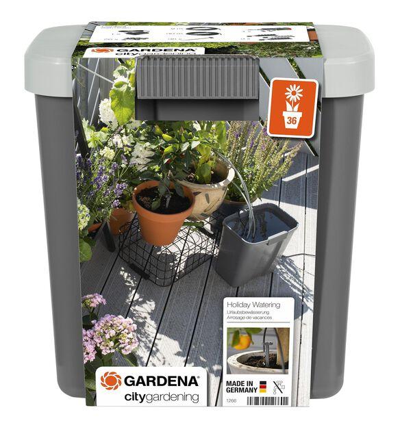 City gardening semesterbevattning med behållare Gardena