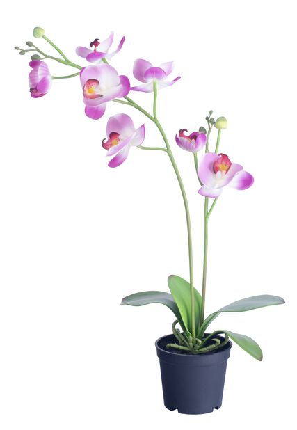 Orkidé H53cm, rosa, konstgjord