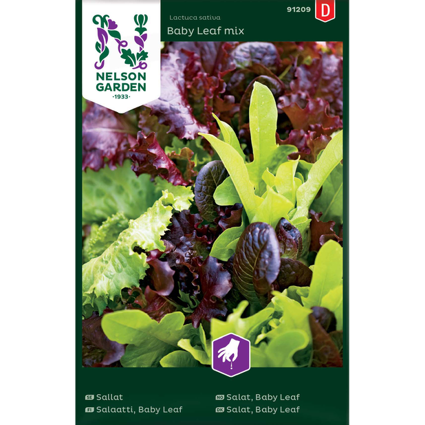Sallat, Baby Leaf mix, Flerfärgad