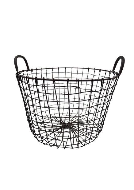Trådkorg, Ø40 cm, Grå