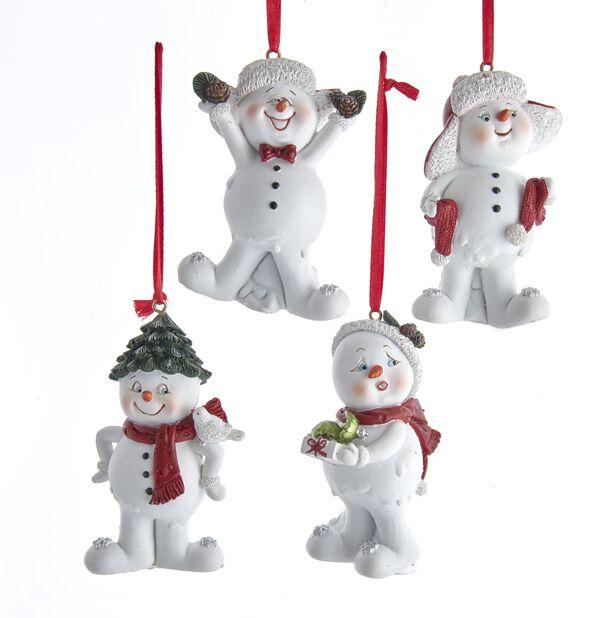 Julgranspynt Glada snögubbar, Höjd 13 cm, Flerfärgad