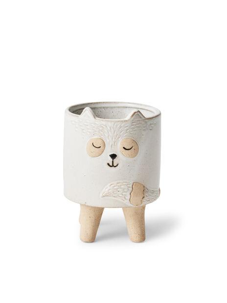 Minikruka katt Lovi, Ø8 cm, Vit
