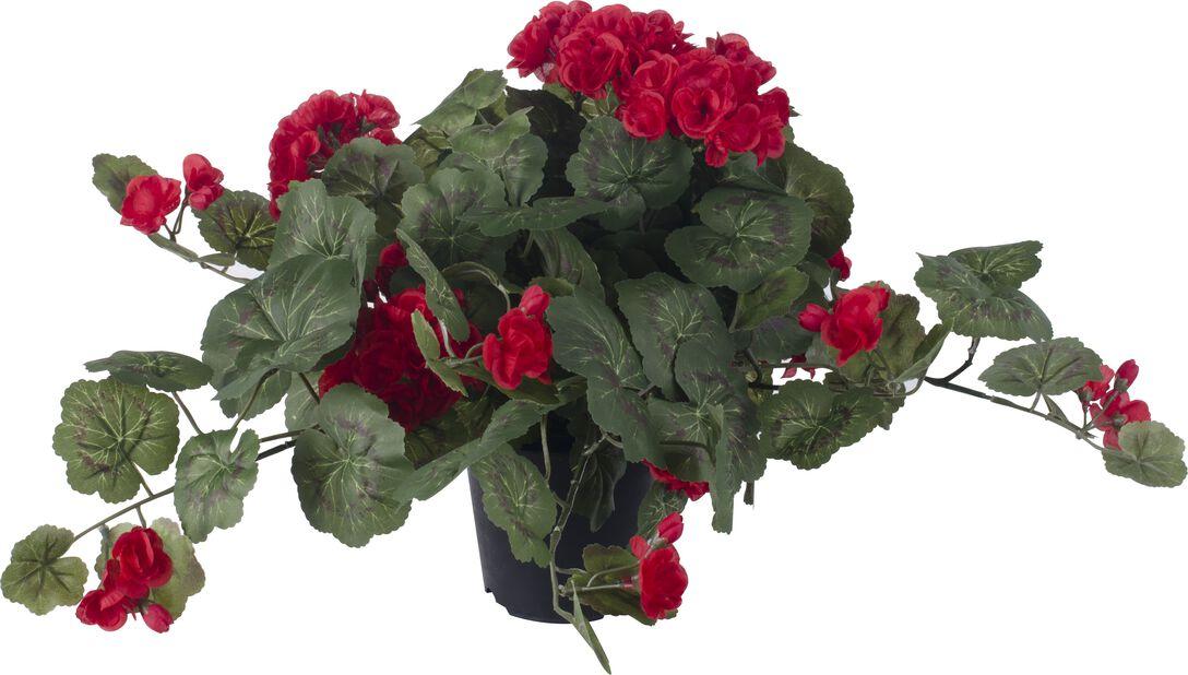 Pelargon konstgjord, Höjd 40 cm, Röd