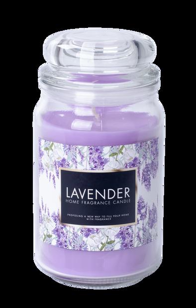 Doftljus Lavendel, Höjd 18 cm, Lila