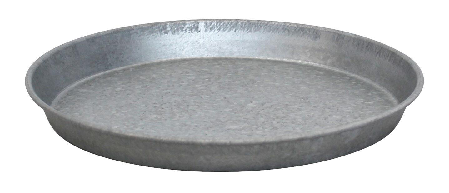 Fat zink, Ø30 cm, Grå