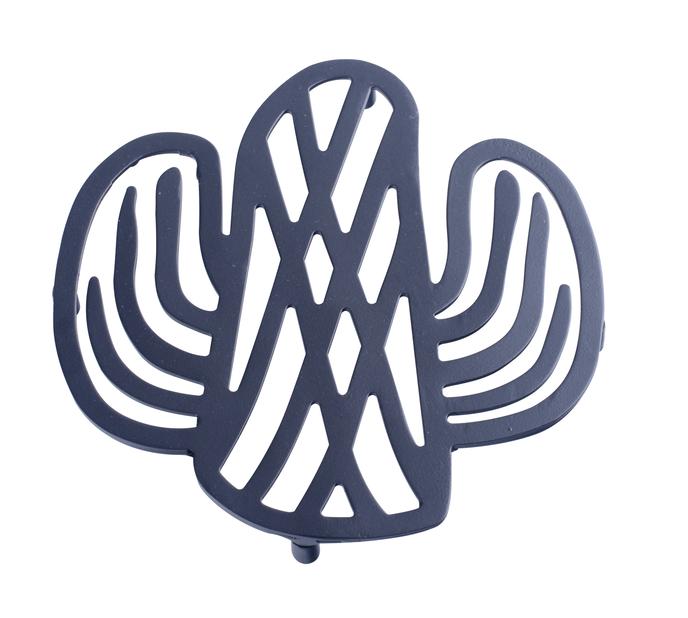 Krukunderlägg Kaktus, Ø16 cm, Svart