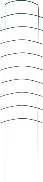 Spaljé Ortus, Höjd 118 cm, Grön