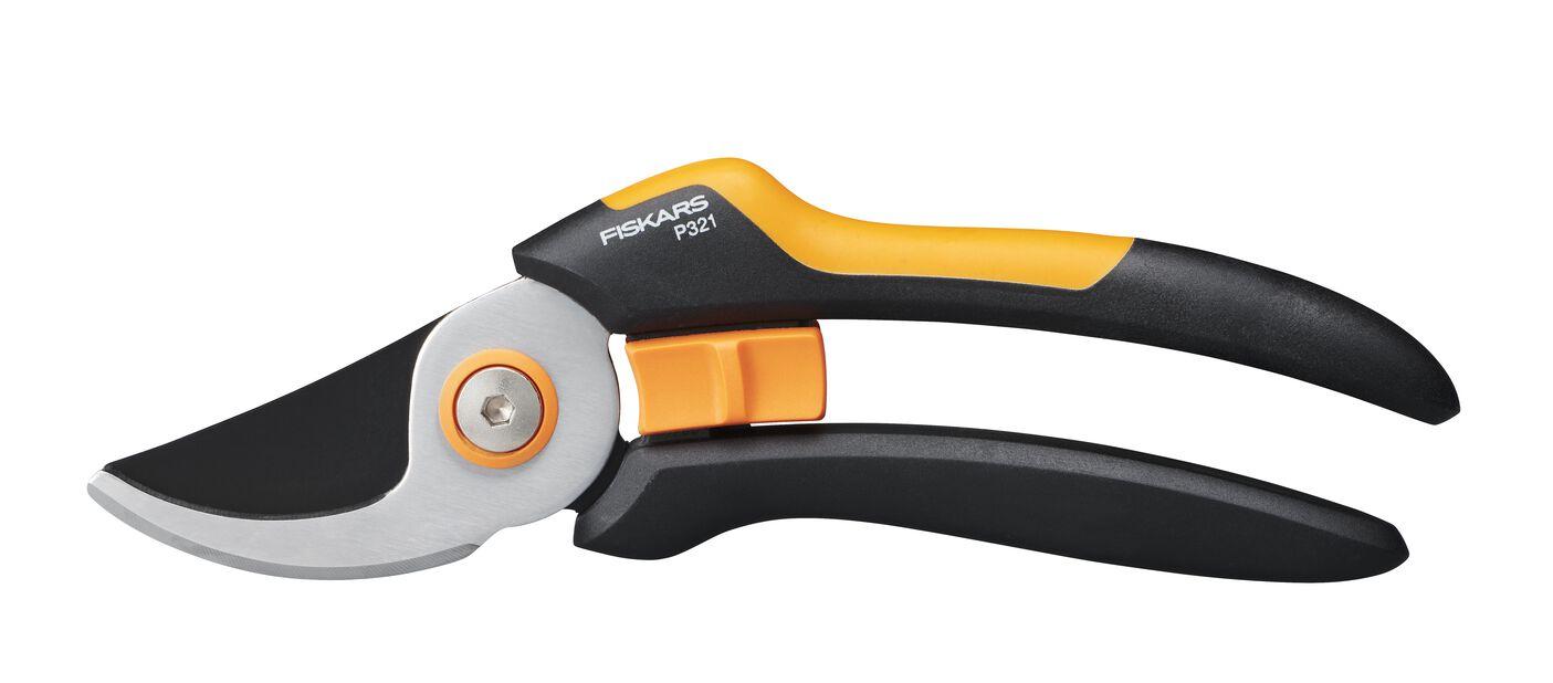 Sekatör P321 sidoskär M Fiskars, Längd 21 cm, Orange
